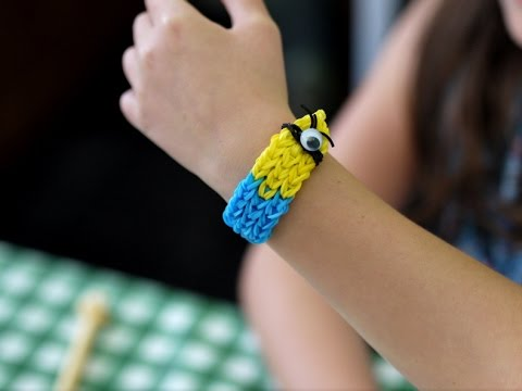 How to: Minion Loom Band Bracelet - Quick Tutorial