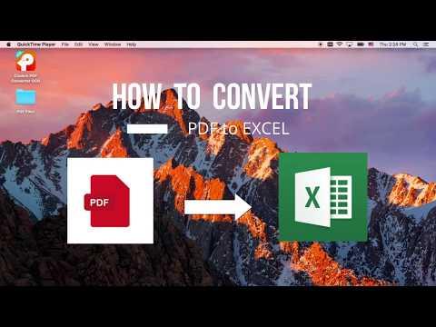 Convert PDF to Excel Spreadsheet on Mac - Easiest way (3-Steps)-2018
