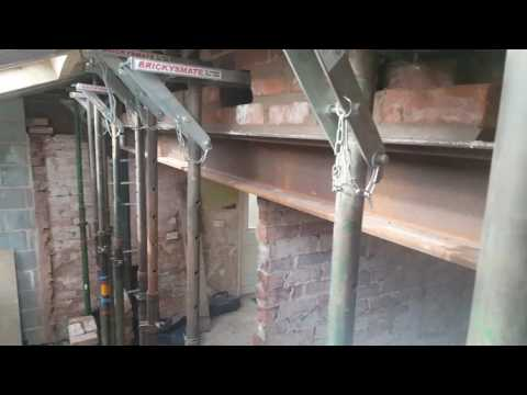 How to support and brick up above  steel RSG Lintel