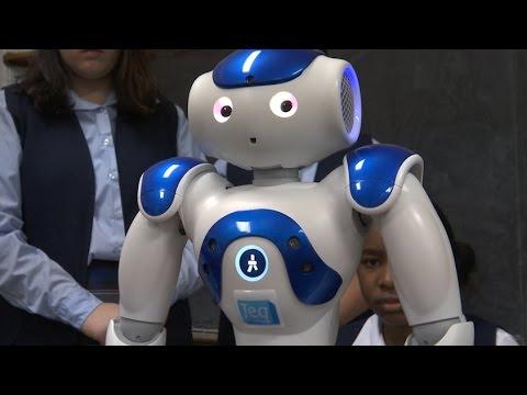 A Walking Talking Teaching Robot