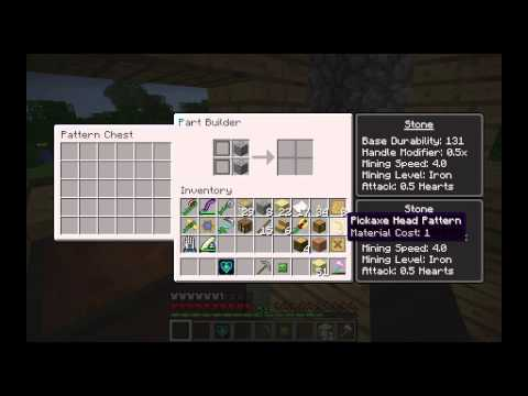 Tinkers Construct How to Make a Stone Pickaxe