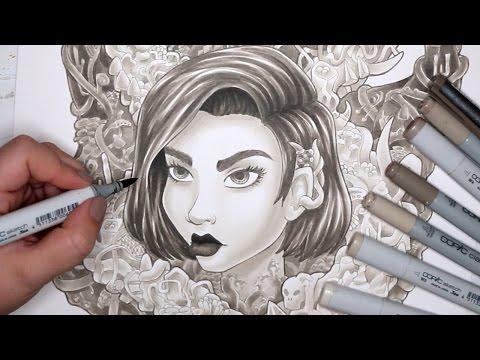 Copic Marker Illustration - MALEVOLENT