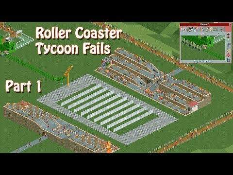 RollerCoaster Tycoon Crashes, Fails and Ridiculous Designs