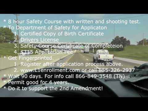 Handgun Carry Permit in Tennessee - My Application Experience