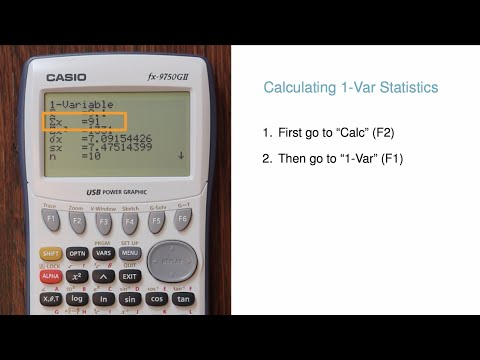 1-Variable Statistics and Box Plots on a Casio fx-9750GII