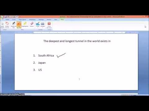 How to directly draw or write on MS Word document with Pen tablet [Stylus]
