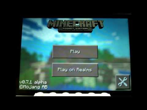 Minecraft pocket edition 0.7.1 tutorial: How to play local server multiplayer