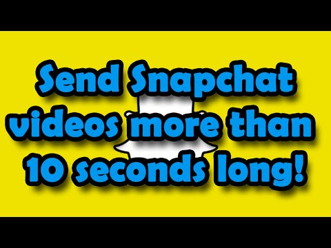 How to send/upload a Snapchat longer than 10 seconds (None-Jail Broken!)