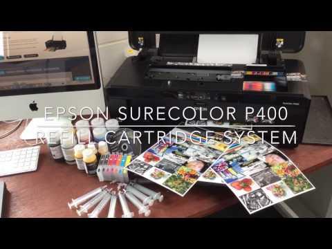 Marrutt Refillable Cartridge System for Epson SureColor SC-P400