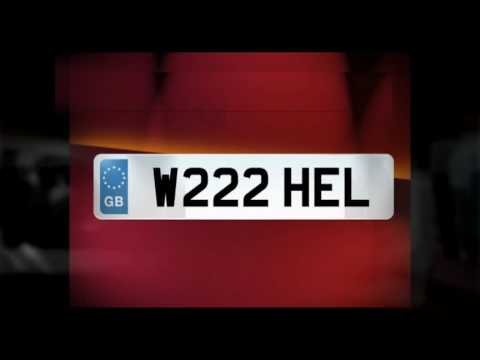 Private reg number plates for sale. UK car registrations.