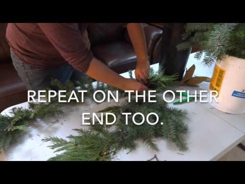 christmas garland tutorial