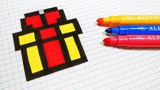 Pixel Art Sucre Dorge Sur Sandbox Coloring
