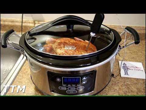 How to Cook a Chicken in a Slow Cooker with Temperature Probe