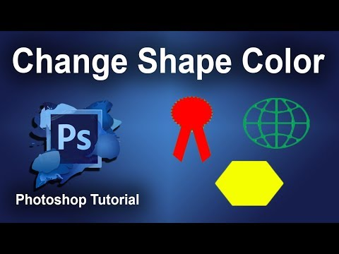 How to change fill color of Shape in Adobe Photoshop CS6 2017