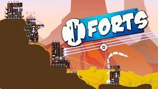 4 PLAYER PLASMA LAZER DOMINATION!- Forts Multiplayer Gameplay