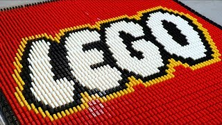 73,000 LEGO Bricks of Dominoes!