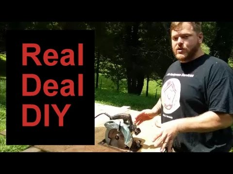Use a Circular Saw Without A Guide. How to cut plywood without a guide.