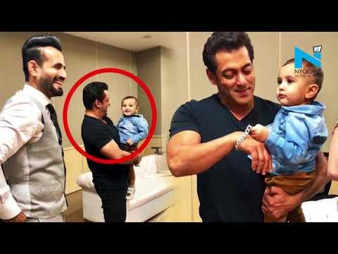 Salman Khan ENJOYS his time with Irfan Pathan's kid