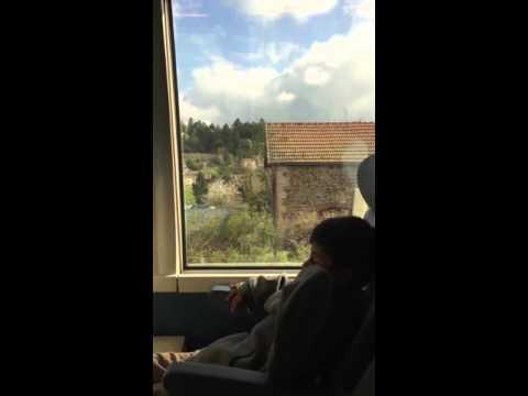 SNCF TGV train journey from Lourdes to Paris CDG