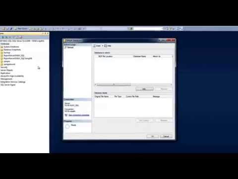 How to attach Northwind Database to SQL Server Management Studio