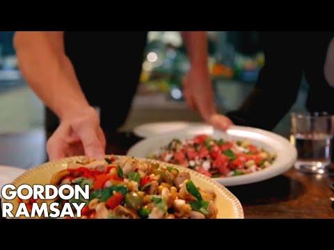 Griddled Chicken with Chickpeas, Feta & Watermelon Salad   Gordon Ramsay