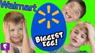 BIGGEST WALMART Egg! Store Toy Haul! Imaginext NEW TOYS LIST HobbyKidsTV