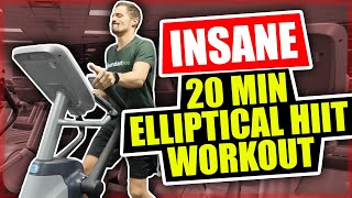 *NEW* Insane 20 Minute Elliptical Workout - HIIT Workout