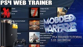 PS4 Trainer Tutorial (5 05 Jailbreak) - MODDED WARFARE - imclips net