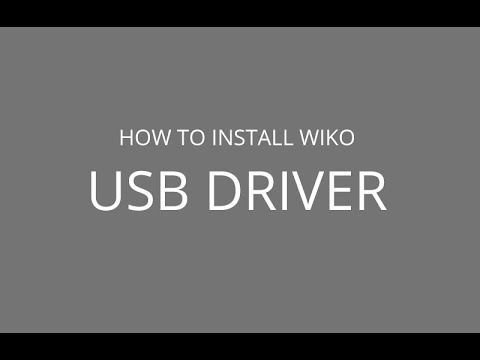 How to install Wiko USB Driver