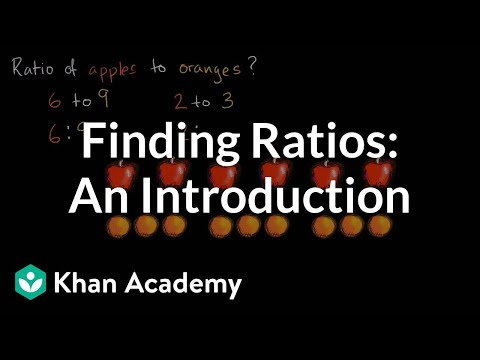Introduction to ratios | Ratios, rates, and percentages | 6th grade | Khan Academy