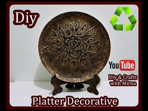 Diy How to make a Platter Decorative Diy & Crafts with Mirna