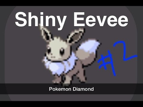 Shiny Eevee + Eeveelutions in Pokemon Diamond