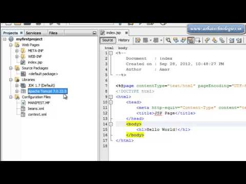 Servlet Tutorials For Beginners  1  How to creating web application in netbeans