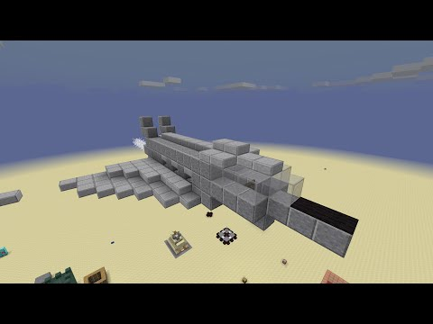 How to build a WORKING fighter jet in minecraft!!!