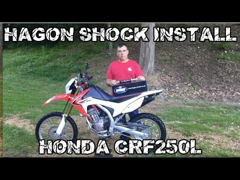 Hagon Rear Shock Install Honda CRF250L Dual Sport
