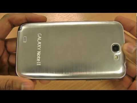 Metal Replacement Back for Samsung Galaxy Note 2 Brushed Aluminium Silver
