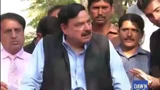 Shaikh Rasheed media talks in Islamabad