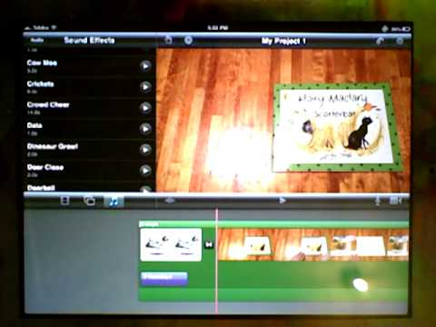 iMovie: Edit transitions, rearrange clips, remove items, add sound effects and add a title
