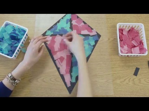 Stained Glass Tissue Paper Kite Decorations  in HIGH SPEED