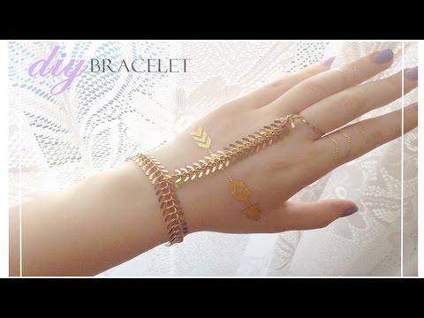 DIY : ring wrist bracelet | slave bracelet (EASY)