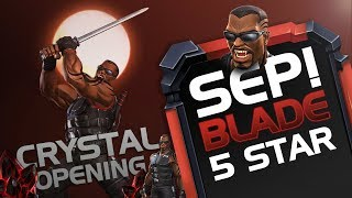 SEP!! Blade 5 STAR Crystal Opening | Marvel Contest Of Champions