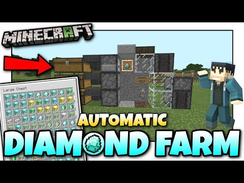 Minecraft - AUTOMATIC DIAMOND FARM [ Tutorial ] MCPE / Xbox / Bedrock