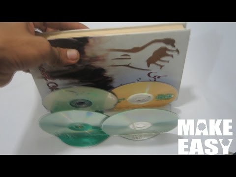 DIY/How to  recycle Cd  - Free Bookshelf- Make Easy