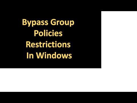 By Pass Group Policy Restrictions In Windows!(vulnerability)