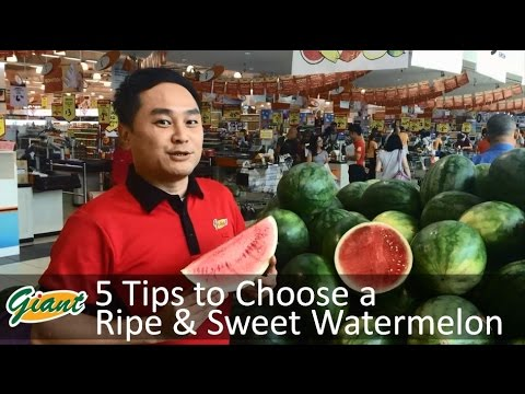 5 Tips to Choose a Ripe & Sweet Watermelon