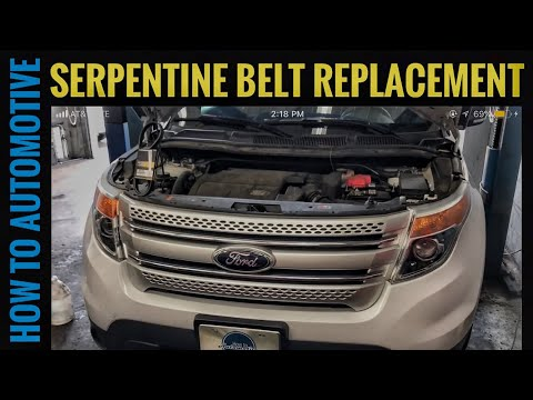 How to Replace the Serpentine Belt on a 2011-2017 Ford Explorer with 3.5L Engine