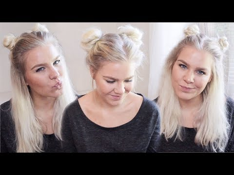 SPACE BUNS IN 3 DIFFERENT WAYS – BACK TO SCHOOL HAIRSTYLES  | AMALIE GABS