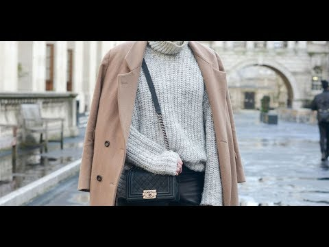 Winter style with wool sweater