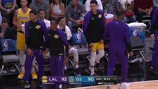 4th Quarter, One Box Video: Golden State Warriors vs. Los Angeles Lakers