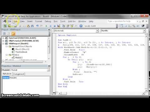 Excel: How To Run VBA Code